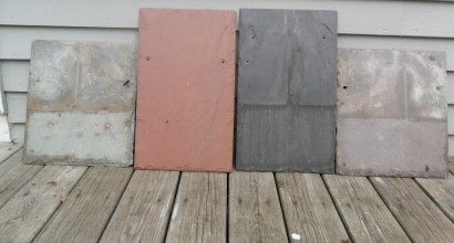 Slate Colors - Green, Red, Black and Purple