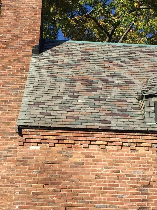 After Photo: Slate Roof Repair