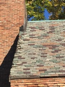 Before Photo: Slate Roof Repair